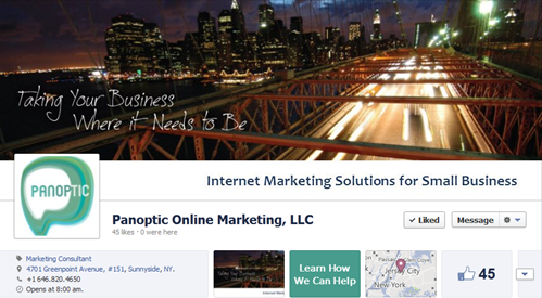 Panoptic Marketing Facebook Timeline Page