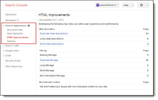 HTML Improvement's report