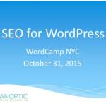 Talking SEO at WordCamp NYC 2015
