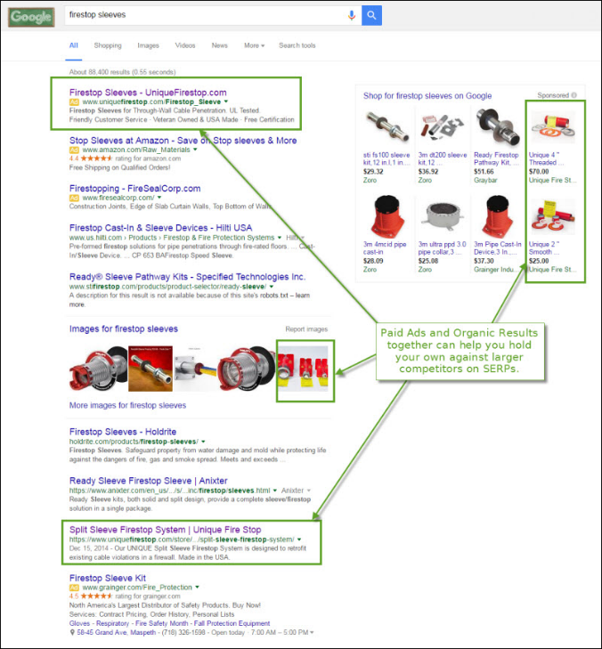 PPC can help protect your top organic search ranking