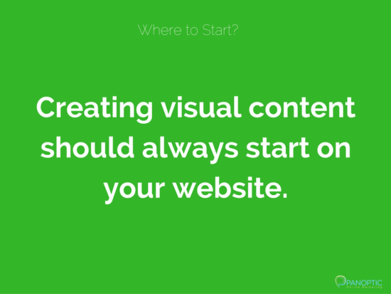 Start by producing visual content for your website