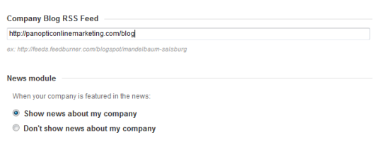Setting up RSS Feed and New Mentions in Linkedin