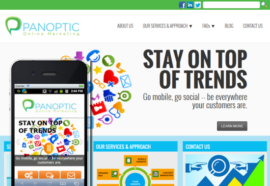 Panoptic Mobile Website