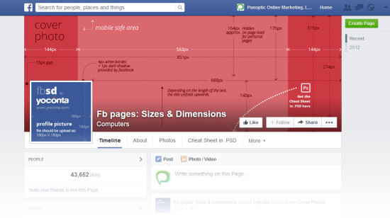 Facebook Cover Photo Dimension