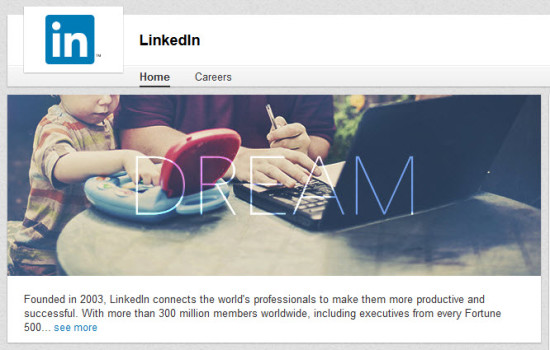 Linkedin homepage photo