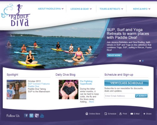 Paddle Diva Website v.1 (ICVM Group)